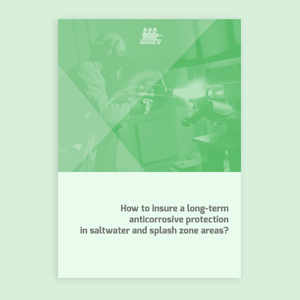 How to insure a long-term anticorrosive protection in saltwater and splash zone areas?